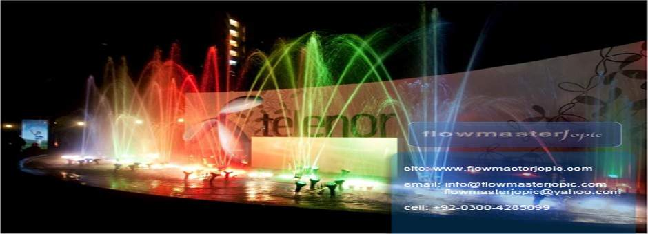 telenor musical fountains Karachi ,Pakistan