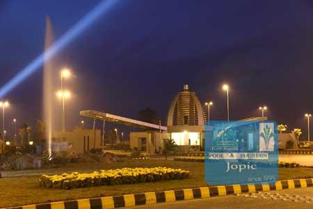 Fountains At City Housing Society Sialkot Pakistan