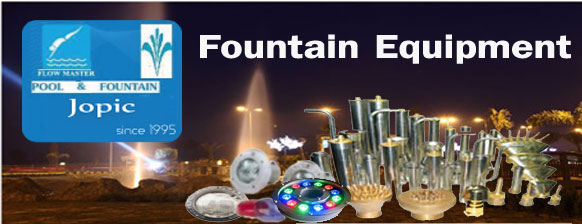 fountain equipment - underwater lights - nozzles - Pakistan